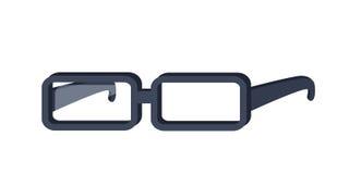 Ilustração do vetor dos vidros no projeto liso ilustração do vetor