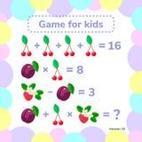 Ilustração do vetor Educacional um jogo matemático Tarefa da lógica ilustração stock