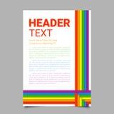 Ilustração do vetor em cores de LGBT Símbolo da paz, cultura alegre Fundo colorido do arco-íris Molde para Pride Month Fotos de Stock Royalty Free