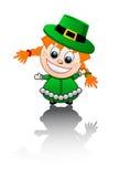 Ilustração do vetor em uma menina irlandesa Fotografia de Stock Royalty Free