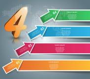 Ilustração do vetor do estilo do origâmi de Infographics do negócio Imagem de Stock Royalty Free