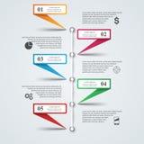 Ilustração do vetor do estilo do origâmi de Infographics do negócio Fotografia de Stock