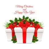 Ilustração do vetor Feliz Natal e ano novo feliz Foto de Stock