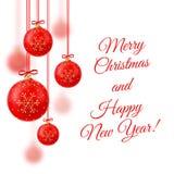 Ilustração do vetor Feliz Natal Natal de cristal realístico Imagens de Stock Royalty Free