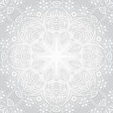 Ilustração do vetor Fundo da circular da flor Um desenho estilizado mandala Ornamento estilizado do laço Ornamento floral indiano Imagem de Stock