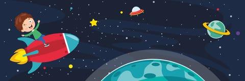 Ilustração do vetor do fundo do espaço ilustração do vetor