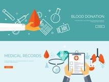 Ilustração do vetor Fundo médico liso Primeiros socorros dos cuidados médicos, cardiologia da pesquisa Medicinestudy chemical ilustração stock