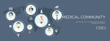 Ilustração do vetor Fundo médico liso Primeiros socorros dos cuidados médicos, cardiologia da pesquisa Medicinestudy chemical ilustração royalty free