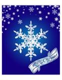 Ilustração do vetor Fundo nevado azul para o cartão de Natal Fotografia de Stock Royalty Free