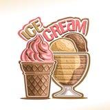 Ilustração do vetor do gelado natural Foto de Stock Royalty Free