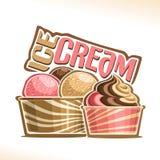 Ilustração do vetor do gelado natural ilustração royalty free