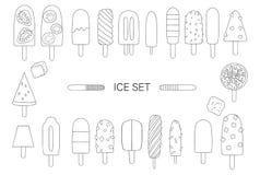 Ilustração do vetor do gelado preto e branco ilustração royalty free