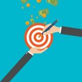 Ilustração do vetor Gestão e realizações Planeamento empresarial e estratégia ilustração stock
