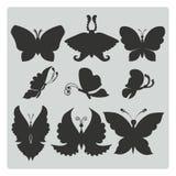 Ilustração do vetor: grupo de silhuetas de Imagem de Stock Royalty Free