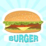 Ilustração do vetor do hamburguer Fotografia de Stock Royalty Free