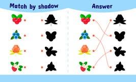 Ilustração do vetor Jogo de harmonização para crianças Fotografia de Stock