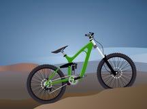 Ilustração do vetor lisa para a bicicleta extrema dos esportes Fotografia de Stock