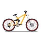 Ilustração do vetor lisa para a bicicleta extrema dos esportes Fotografia de Stock Royalty Free