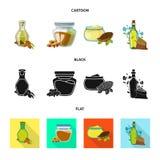 Ilustração do vetor do logotipo saudável e vegetal Coleção do ícone saudável e da agricultura do vetor para o estoque ilustração do vetor