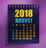 ilustração do vetor do molde de 2018 calendários ilustração stock