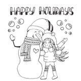 Ilustração do vetor do Natal Imagens de Stock Royalty Free
