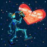 Ilustração do vetor no estilo liso sobre o robô ano novo feliz 2007 Foto de Stock Royalty Free
