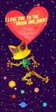 Ilustração do vetor no estilo liso sobre o robô ano novo feliz 2007 Fotografia de Stock Royalty Free