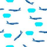 A ilustração do vetor nubla-se o avião Fotos de Stock Royalty Free