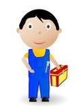 Ilustração do vetor o menino com a ferramenta ilustração royalty free