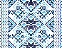 Ilustração do vetor do ornamento ucraniano sem emenda Para o papel de parede, matérias têxteis, cartões ilustração royalty free