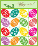 Ilustração do vetor Ovos de Easter coloridos Foto de Stock