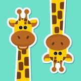 Ilustração do vetor - par de girafas - animais selvagens - África - jardim zoológico Fotografia de Stock Royalty Free