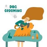 Ilustração do vetor para o cabeleireiro do animal de estimação ilustração do vetor