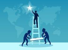 Ilustração do vetor para o conceito da rivalidade do negócio ilustração stock