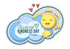Ilustração do vetor para o dia da bondade do mundo imagem de stock royalty free