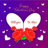 Ilustração do vetor para o dia dos Valentim imagem de stock royalty free