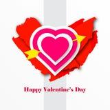 Ilustração do vetor para o dia dos Valentim foto de stock royalty free