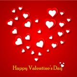 Ilustração do vetor para o dia dos Valentim fotografia de stock royalty free