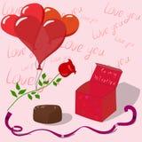 Ilustração do vetor para o dia do ` s do Valentim ilustração stock