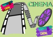 Ilustração do vetor para o industria do cinema ilustração royalty free