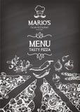 Ilustração do vetor para um menu italiano da pizza Fotos de Stock