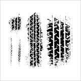 Ilustração do vetor do pneu do traço ilustração royalty free