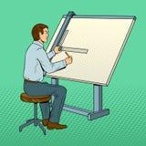 Ilustração do vetor do pop art do coordenador da velha escola Foto de Stock