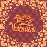Ilustração do vetor Projeto do cartaz do partido do dia de Valentim Molde do convite, do inseto, do cartaz ou do cartão Fotos de Stock