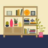 Ilustração do vetor Sala de visitas interior Imagens de Stock Royalty Free