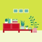 Ilustração do vetor Sala de visitas interior Fotografia de Stock