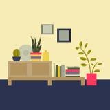 Ilustração do vetor Sala de visitas interior Foto de Stock Royalty Free