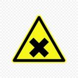 Ilustração do vetor do sinal de aviso Fotos de Stock Royalty Free