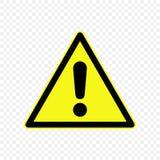 Ilustração do vetor do sinal de aviso Imagem de Stock