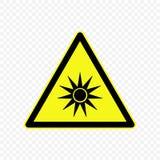 Ilustração do vetor do sinal de aviso Imagens de Stock